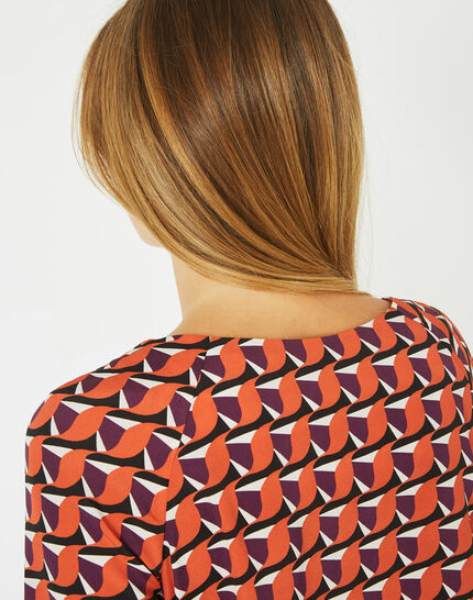 Blouse orange imprimée Darla (3) - 1-2-3