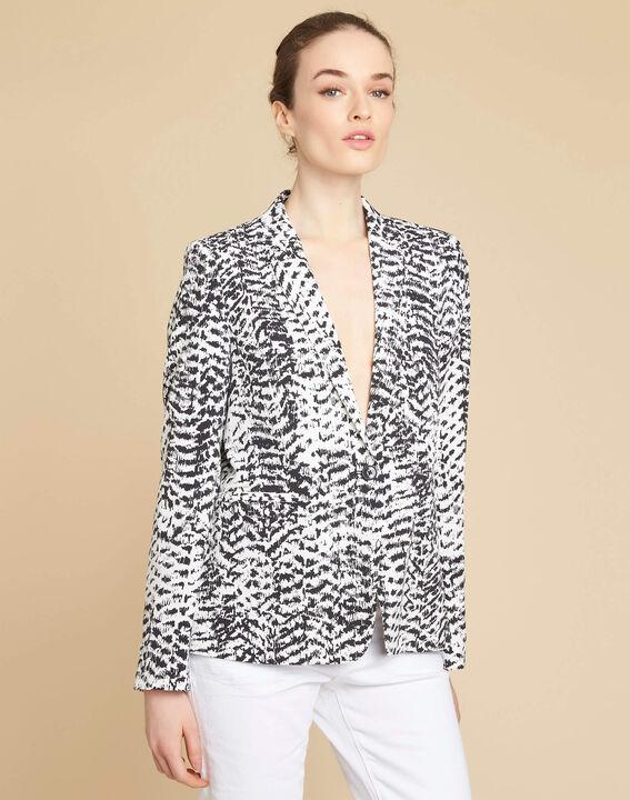 Veste noir & blanc imprimée Demoiselle (3) - 1-2-3