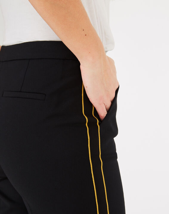 Voda tailored black trousers with strips (5) - 1-2-3