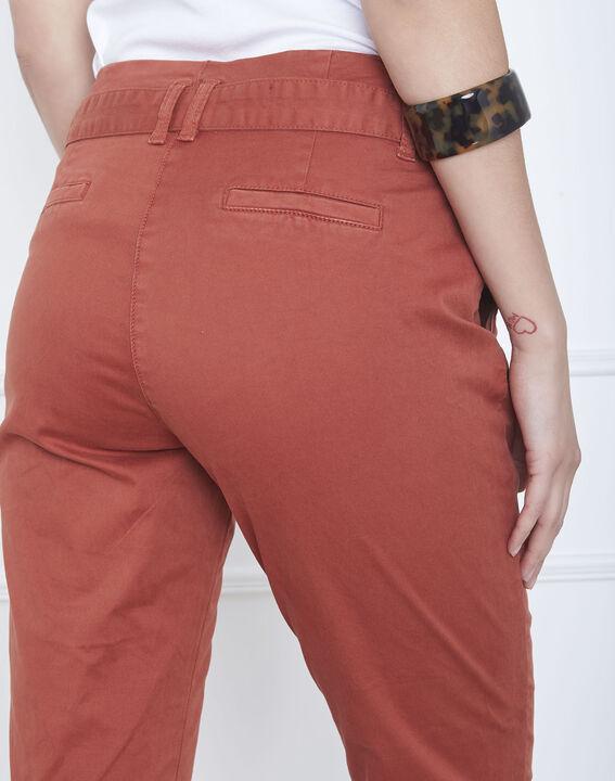 Pantalon acajou chino ceinturée Clovis (4) - Maison 123