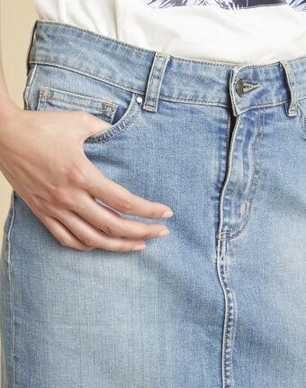 Jupe en jean lou indigo clair.