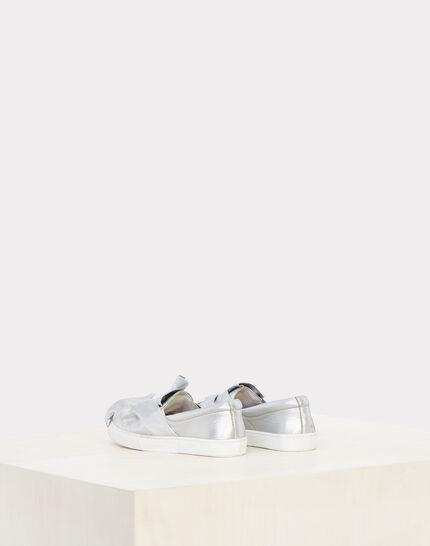 Natanael silver tie trainers (3) - 1-2-3