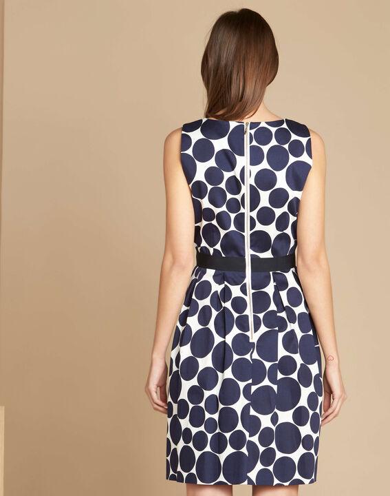 Isis blue polka dot printed dress (4) - 1-2-3