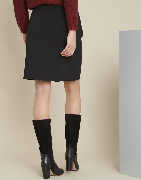 Angel black compact skirt with buckle detail (4) - 1-2-3