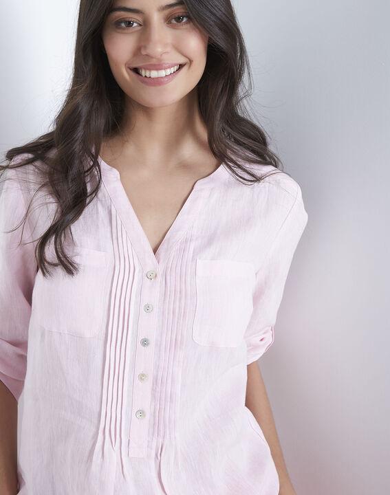 Roze hemd van linnen Roma (3) - Maison 123