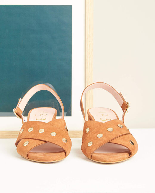 Kitty heeled camel sandals (1) - 1-2-3