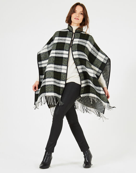 Karierter Poncho in British Green Edward PhotoZ | 1-2-3