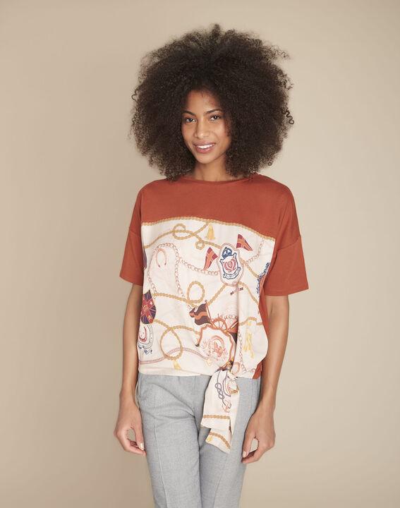 Tee-shirt acajou imprimé Chantilly PhotoZ   1-2-3