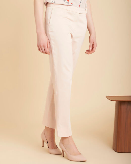 Rubis pale pink 7/8 length trousers (2) - 1-2-3