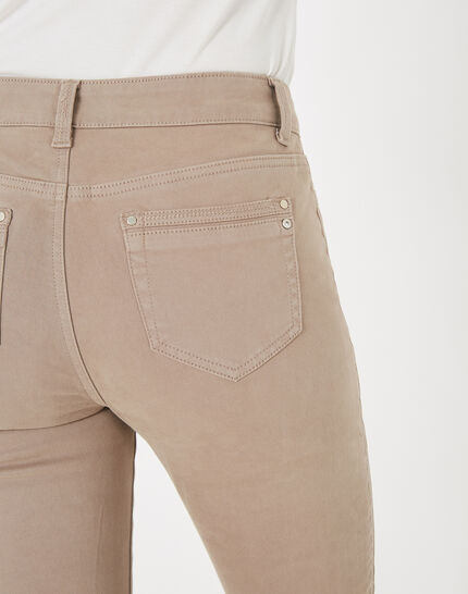 Pia taupe 7/8 length satin trousers (3) - 1-2-3