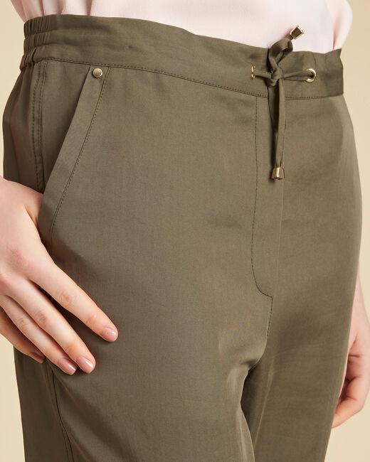 Fließende khakifarbene Hose Jane (1) - 1-2-3