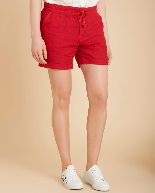 Short rouge en lin Citron (2) - 1-2-3