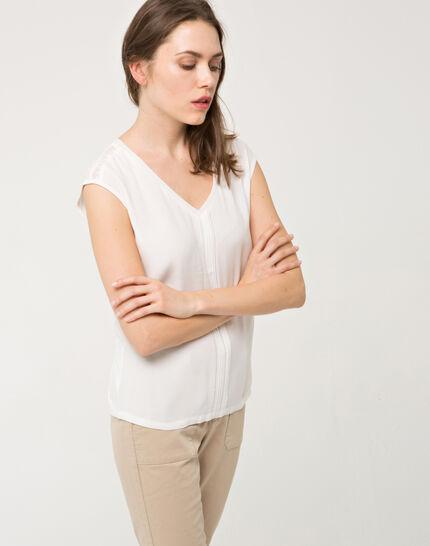 Ecrufarbenes T-Shirt mit Spitze Next (5) - 1-2-3