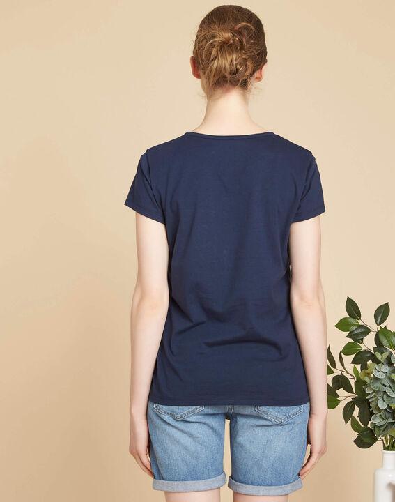 Tee-shirt marine brodé en coton Enoeud (4) - 1-2-3