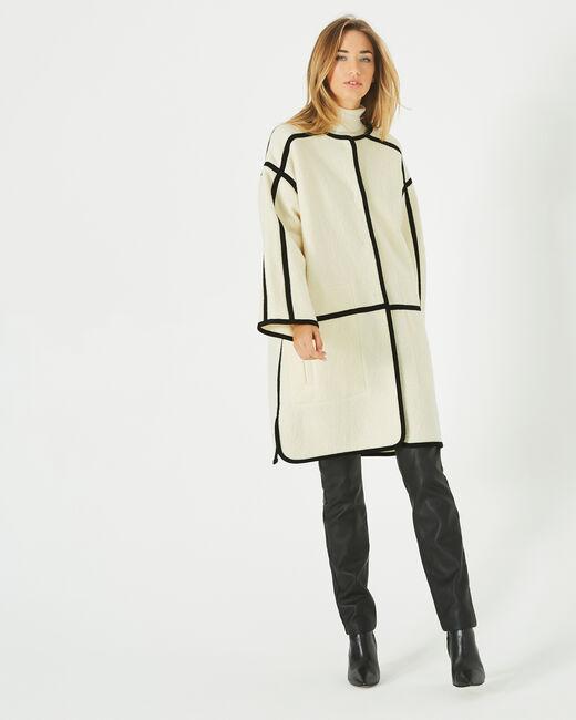 Manteau long noir et blanc Josh (1) - 1-2-3