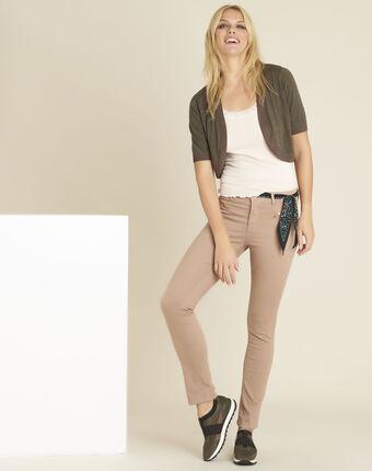 Rosa gerade jeans mit reißverschlusstaschen germain primerose.