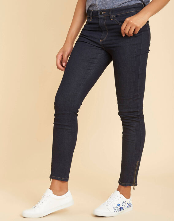 Marineblaue Slim-Fit-Jeans normale Leibhöhe Opéra (3) - 1-2-3