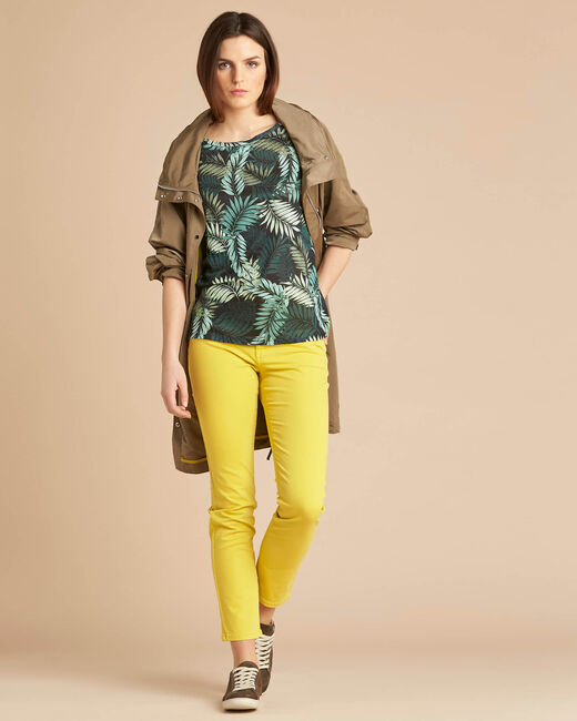 Tee-shirt imprimé feuillage manches 3/4 Ebahi (2) - 1-2-3