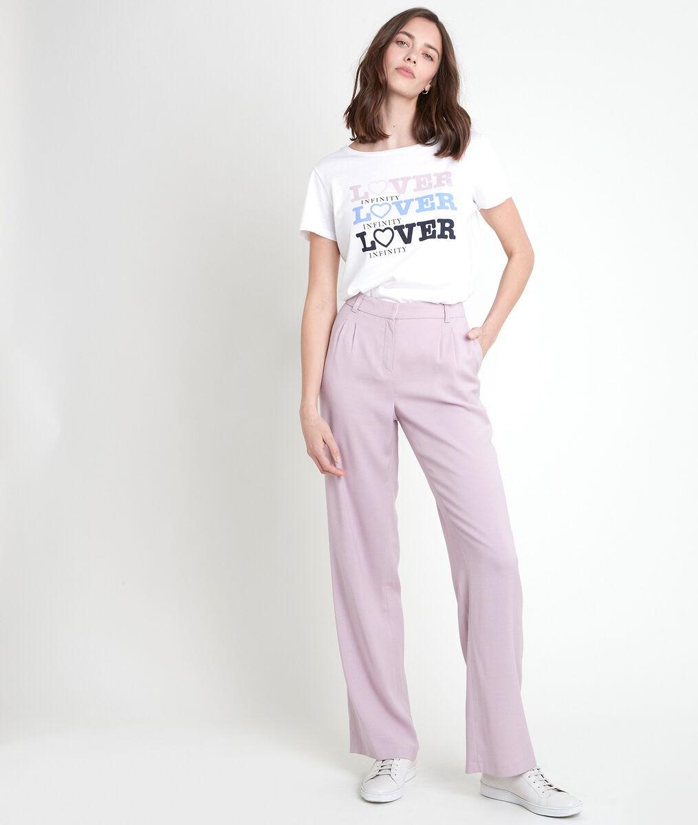 Pantalon large en laine mauve Marcel PhotoZ   1-2-3