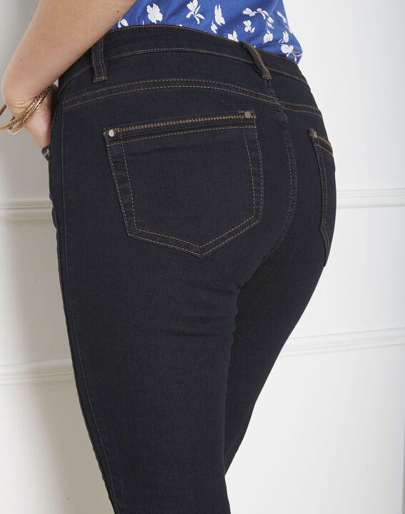 Opera slim-cut black jeans with zips at the waist (3) - 1-2-3