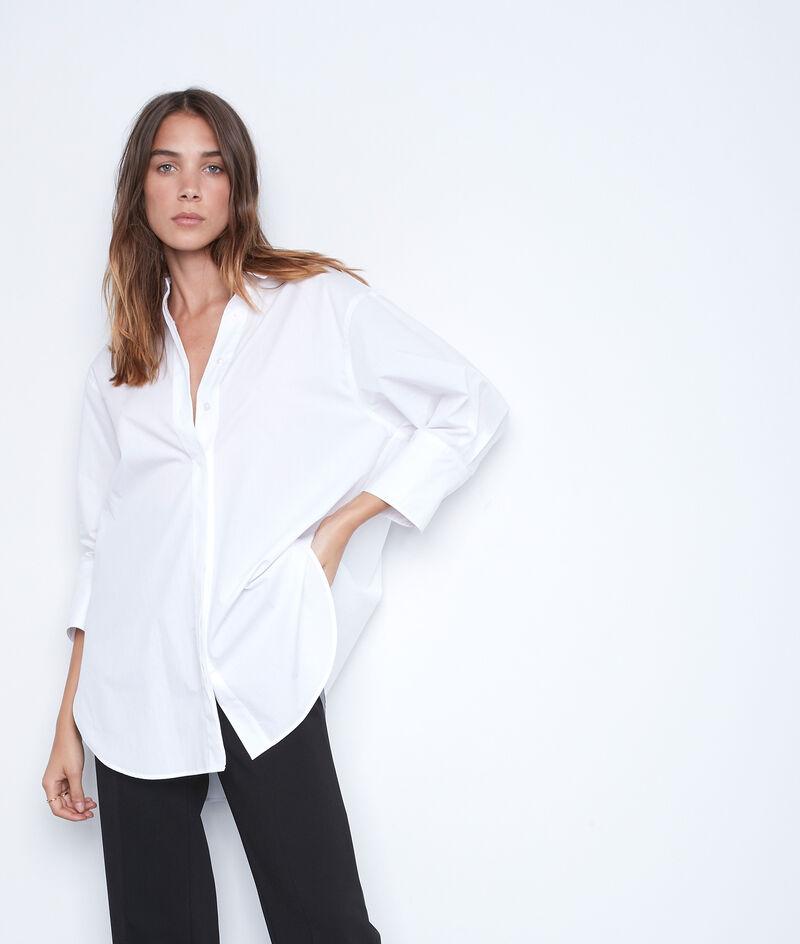 Chemise longue et oversized en coton blanc Adoline PhotoZ   1-2-3