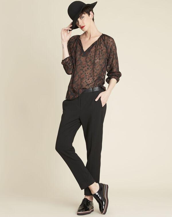 Zwarte blouse van kant met uitsparingen Constantine (1) - 37653