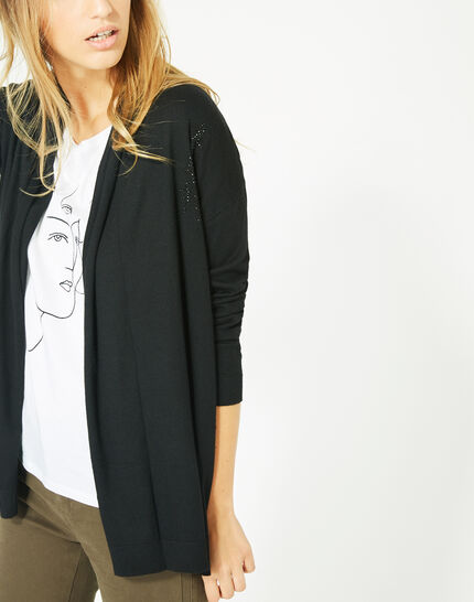 Pluton black cardigan/jacket with diamanté detailing (3) - 1-2-3