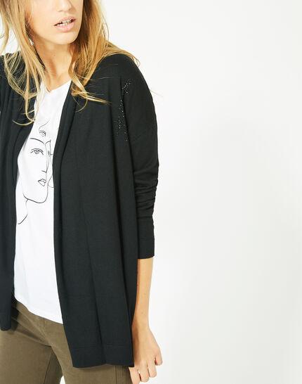 Gilet noir à strass façon veste Pluton (3) - 1-2-3