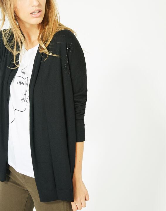Pluton black cardigan/jacket with diamanté detailing (3) - 1-2-3