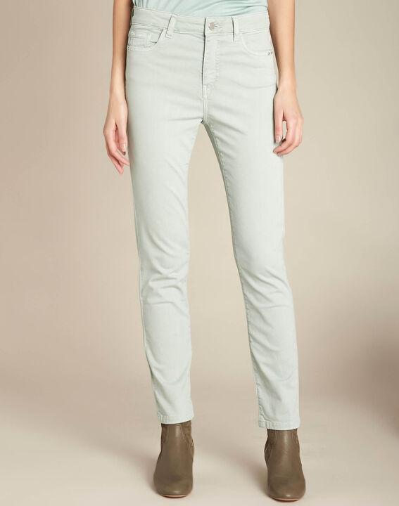 Amandelkleurige verwassen slim fit jeans met normale taille Vendôme (3) - 37653
