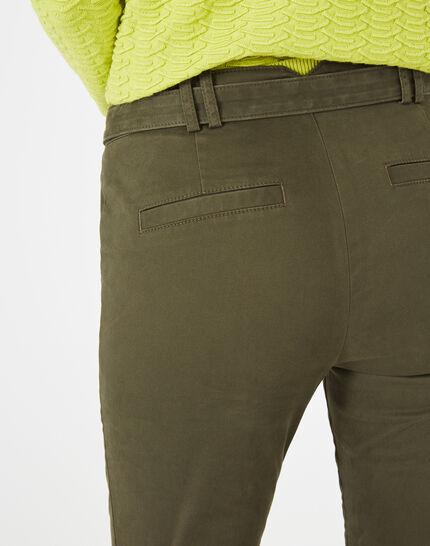 Kloe khaki 7/8 length trousers (4) - 1-2-3