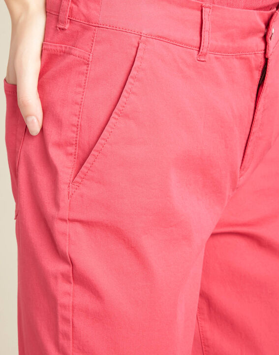 Francis slim-cut belted cotton trousers in fuchsia PhotoZ | 1-2-3