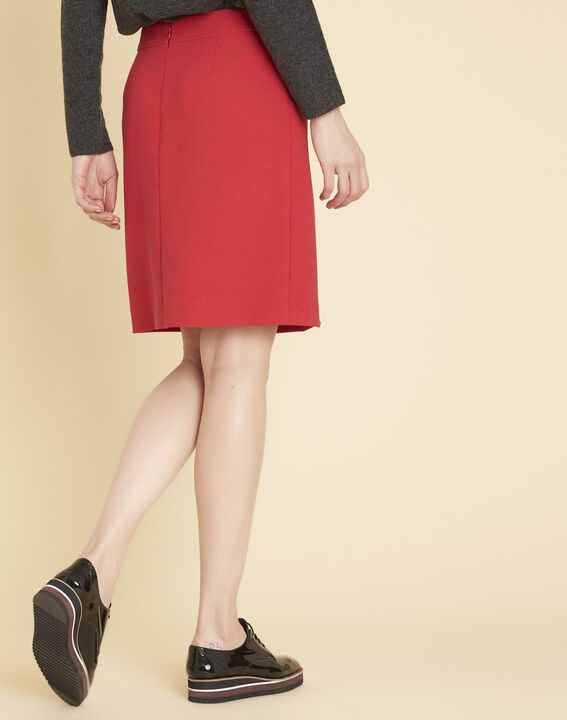 Angel tight red skirt with buckle (4) - 1-2-3