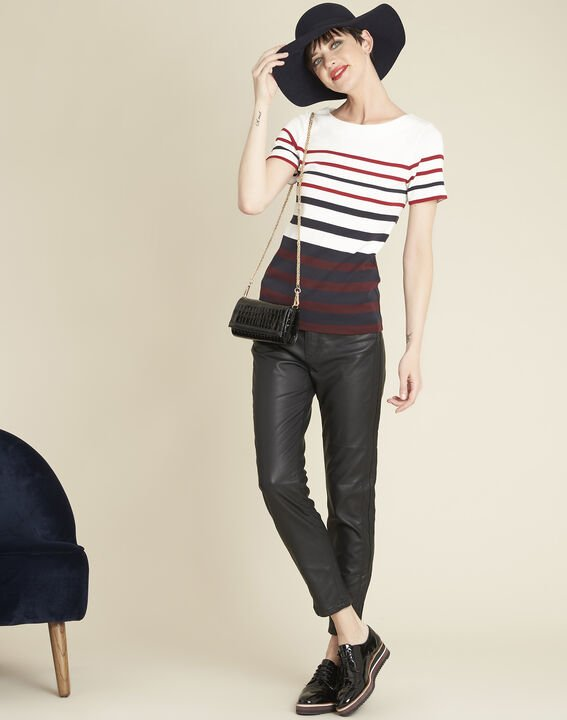 Gasayat stripy T-shirt with rounded neckline (2) - 1-2-3