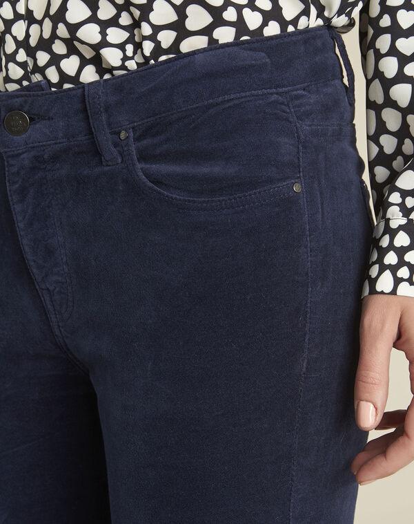 Vendome navy slim-cut velvet jeans (2) - 1-2-3