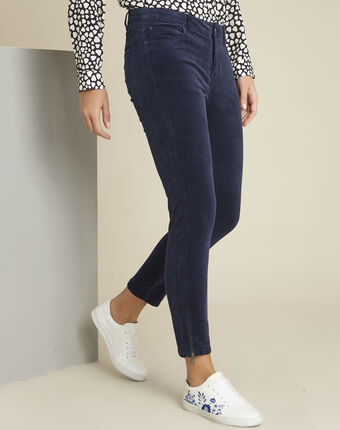 Marineblaue slim jeans aus samt vendome marineblau.