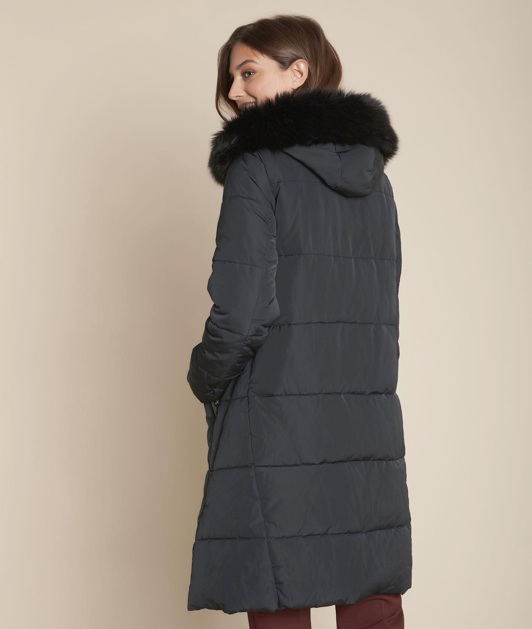 Doudoune longue noire Sorona® Dupont™ Liliane Femme | Maison 123