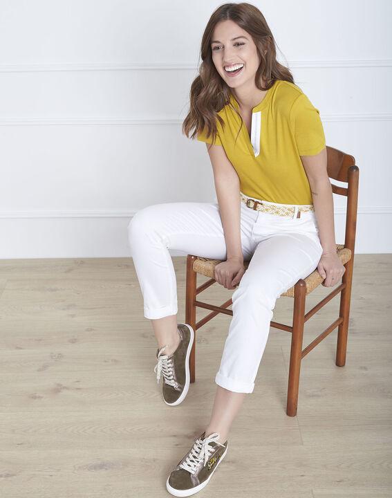 Tee-shirt anis encolure fantaisie Priscille PhotoZ | 1-2-3