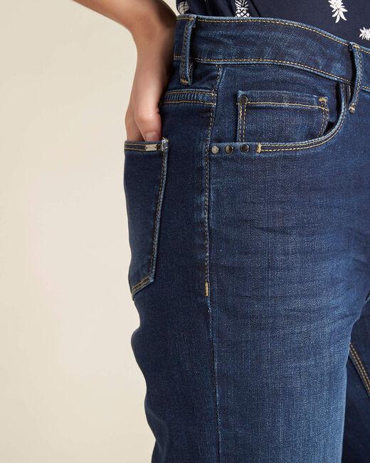 Dunkelblaue gerade Jeans normale Leibhöhe Vivienne (1) - 1-2-3