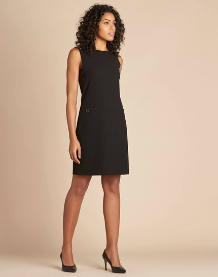 Prisca sleeveless straight-cut black dress (3) - 1-2-3