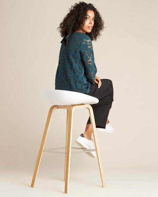 Woudgroene blouse van kant Geraldine (1) - 37653