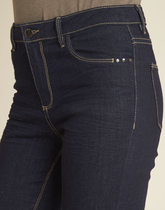 Vendôme 7/8 length navy blue jeans with zipped detailing (3) - 1-2-3