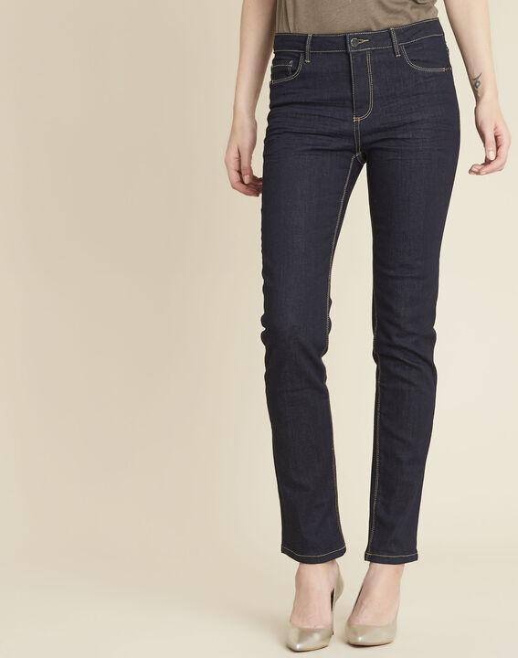 Vendôme 7/8 length navy blue jeans with zipped detailing PhotoZ | 1-2-3