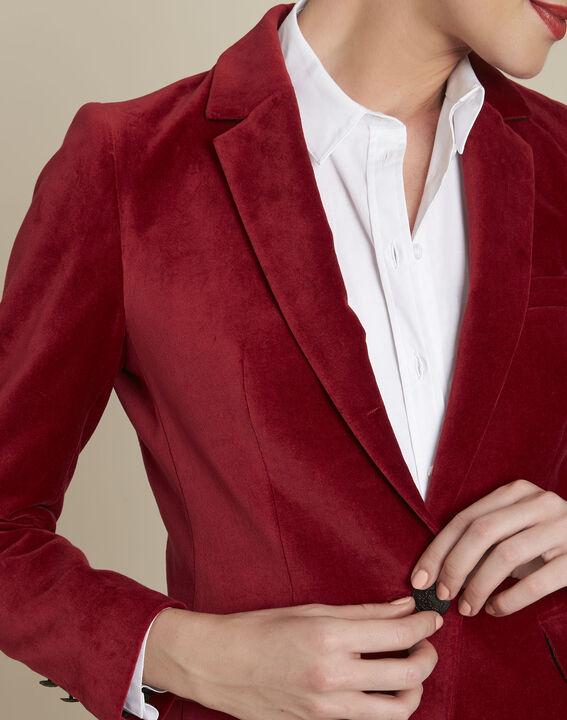 Veste rouge en velours Silvana (3) - 1-2-3