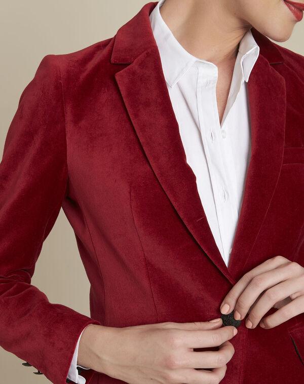 Silvana red velvet jacket (2) - 1-2-3