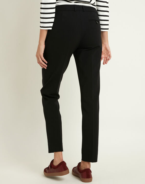 Valero black fitted trousers with pleats (4) - 1-2-3