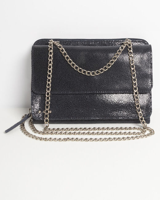 Darling navy blue leather bag with chain (1) - 1-2-3