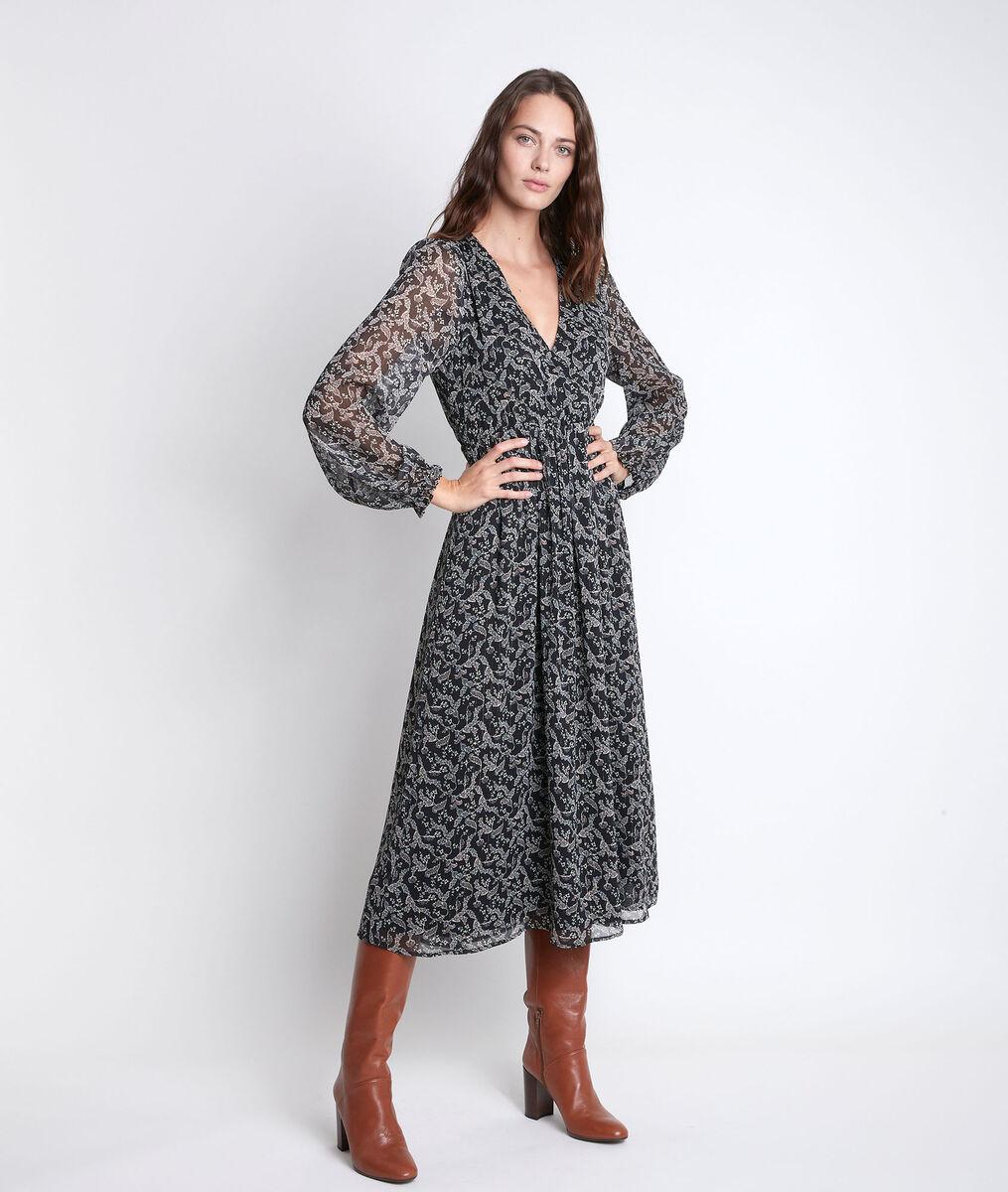 Robe longue imprimé fleuri Louise PhotoZ   1-2-3