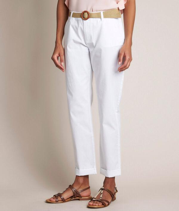 Pantalon chino blanc Francis PhotoZ | 1-2-3