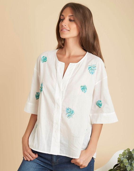 Ecru overhemd met borduurwerk Galadriel (3) - 37653